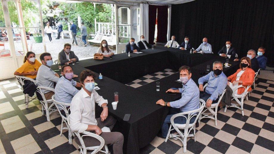 Una de las últimas reuniones de la mesa nacional de Juntos por el Cambio.