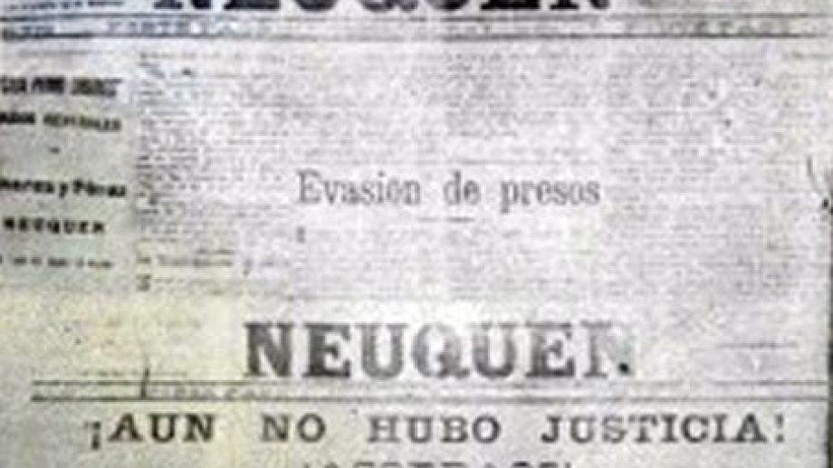 En el periódico se denunciaron las atrocidades cometidas luego de la fuga de presos de la cárcel neuquina, hecho conocido como la matanza de Zainuco. (FOTO: museo Paraje Confluencia)