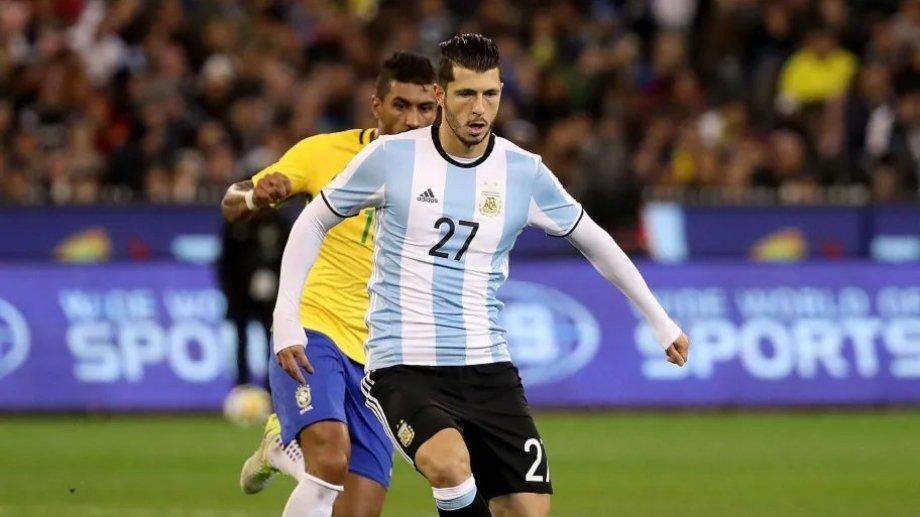 Guido Rodríguez viene formando parte del plantel de la selección en el proceso Scaloni pero no ha tenido muchos minutos.