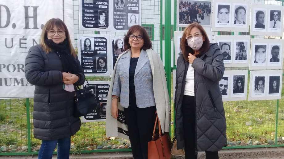 Nancy Durán, Gladys Durán de Chavez y Amalia Durán. (Gentileza APDH)