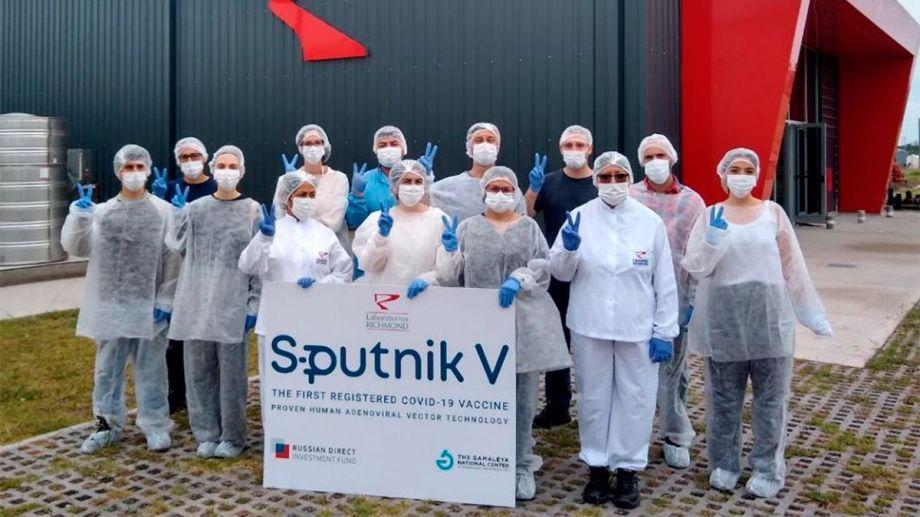 La producción local del componente 2 de la vacuna Sputnik V supera el millón.