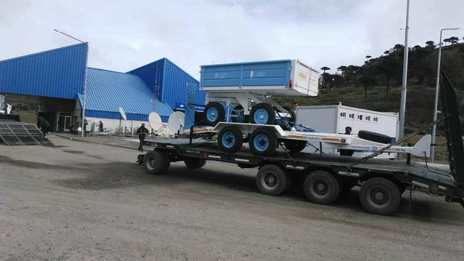 El Complejo Pino Hachado recibió una máquina para sacar nieve (Complejo Fronterizo Pino Hachado)