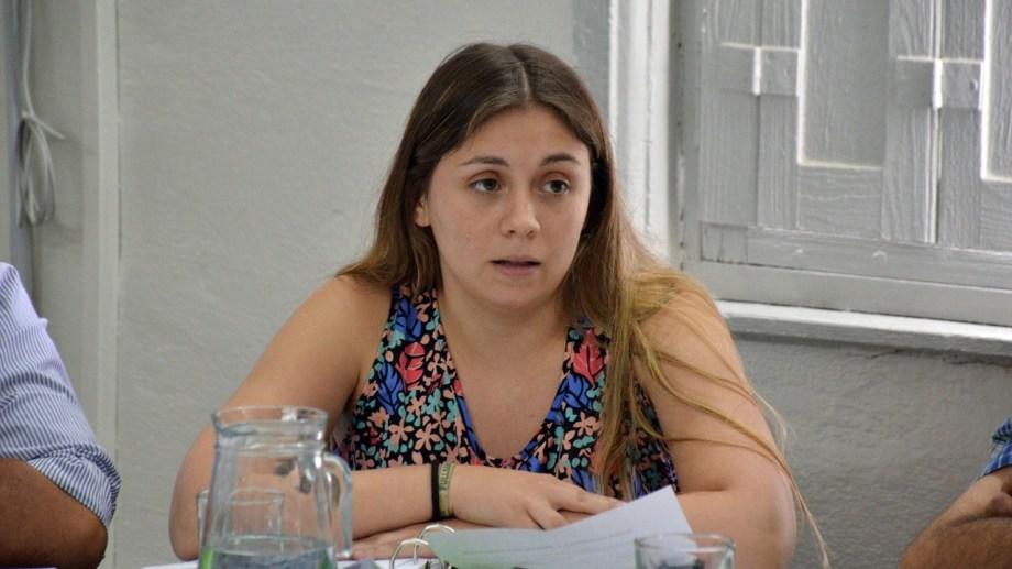 La concejal Fernández propuso que se dicten curso de educación vial en forma virtual. (Foto Néstor Salas)