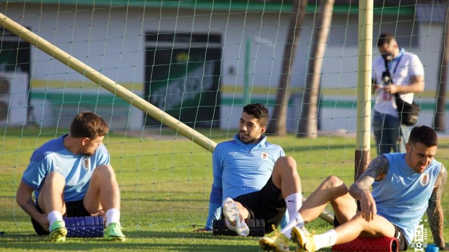 El entrenamiento de Uruguay en la previa del partido contra Chile por la Copa América.