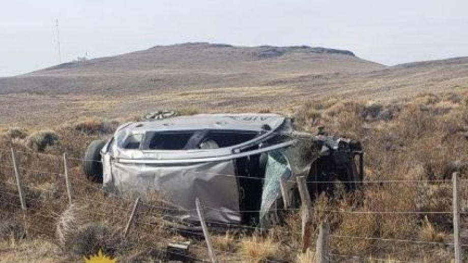 El siniestro vial ocurrió este mediodía de miércoles, a la altura del kilómetro 1490 de la ruta nacional 237. (foto gentileza)