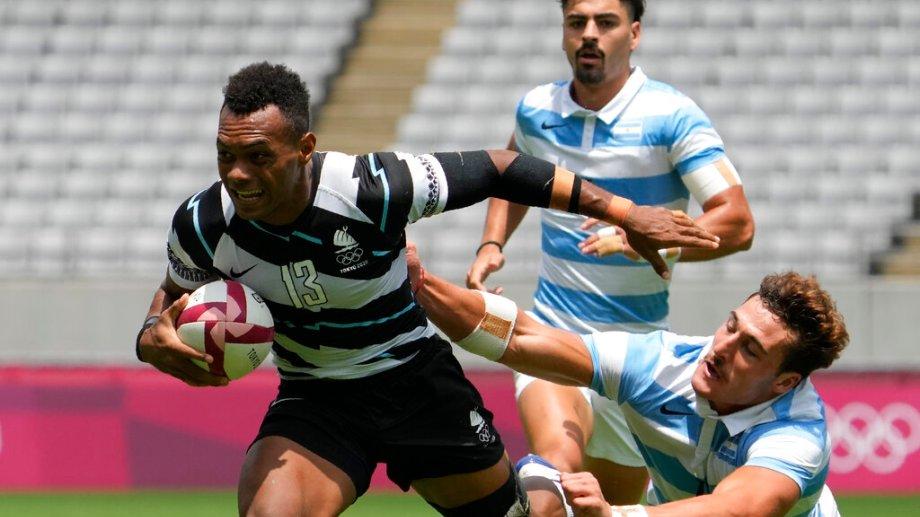Fiji fue demasiado para Argentina en la semifinal. (Foto: AP)