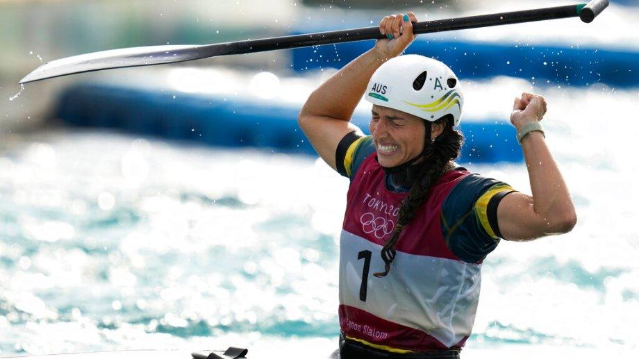 Jessica Fox, es una de las figuras del canotaje en Tokio 2020. (Foto: AP)