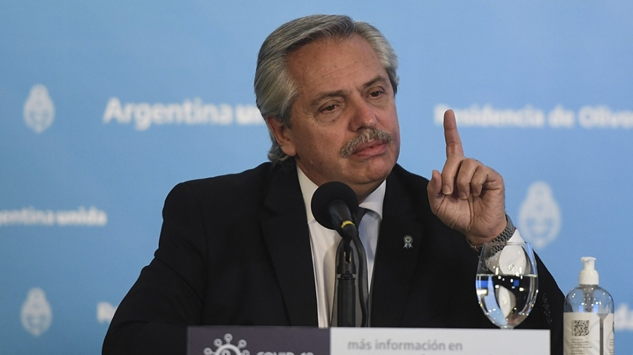 """""""Vamos a seguir trabajando por bajar los precios, fundamentalmente de los alimentos"""", dijo Alberto Fernández."""