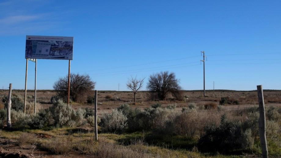 El predio se encuentra al oeste de la Ruta 6, entre la calle Las Petunias y las tierras del Aeroclub roquense. (Foto: Juan Thomes)