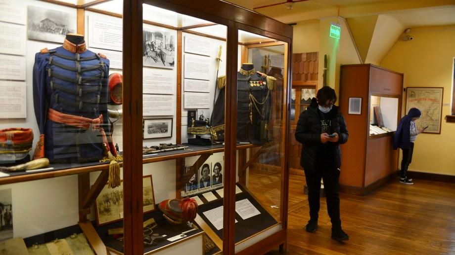 El Museo de la Patagonia volvió a abrir y recibe visitantes desde en miércoles, en el Centro Cívico de Bariloche. Foto: Alfredo Leiva