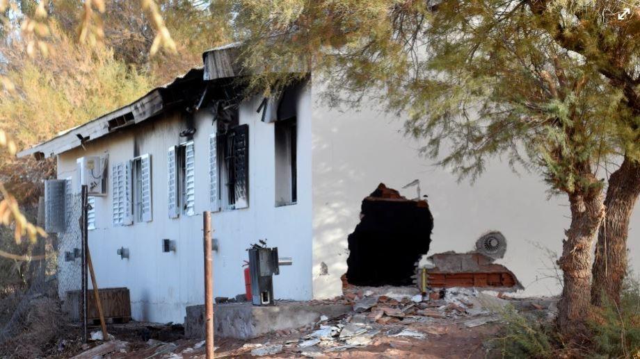 La explosión en la escuela albergue 144 se produjo el 29 de junio. Foto Florencia Salto.