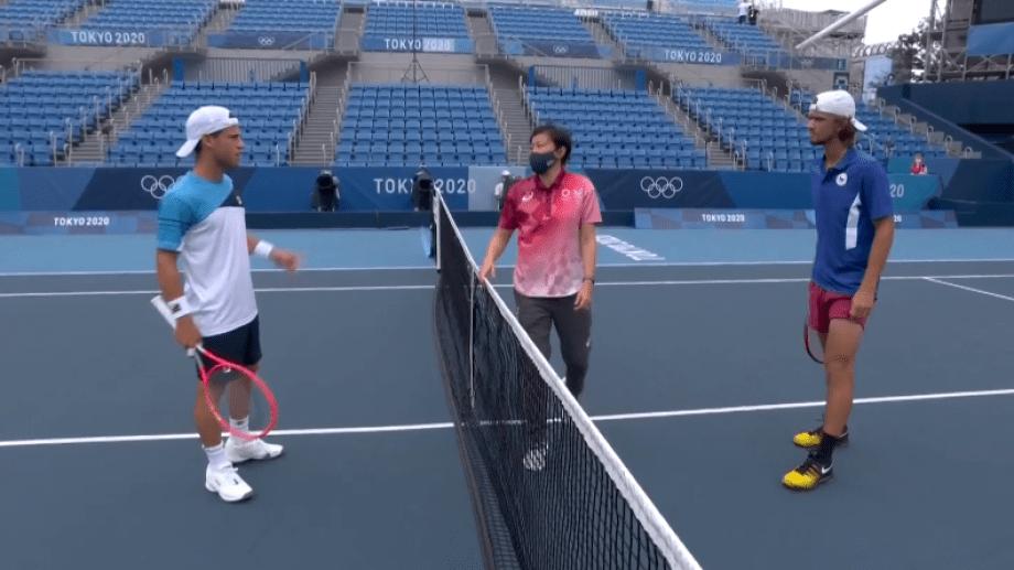 """El """"Peque"""" batalló durante dos horas en la cancha 1 del Parque de tenis de Ariake"""