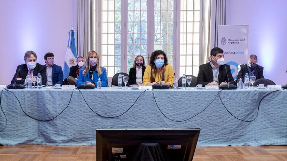 Vizzotti  encabezó la reunión junto a los representantes de las provincias.