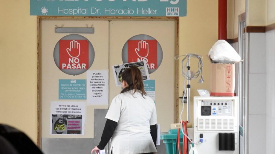 La terapia covid del hospital Heller de Neuquén. Foto: Florencia Salto