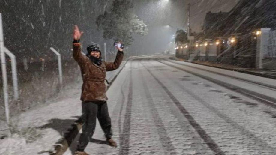 Nevó en 13 ciudades del sur de Brasil. Foto: Twitter