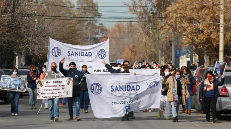El paro de salud privada se levantó; hay una nueva concicliación en la busca de un aumento de 45% por parte de los trabajadores. Foto: Juan Thomes