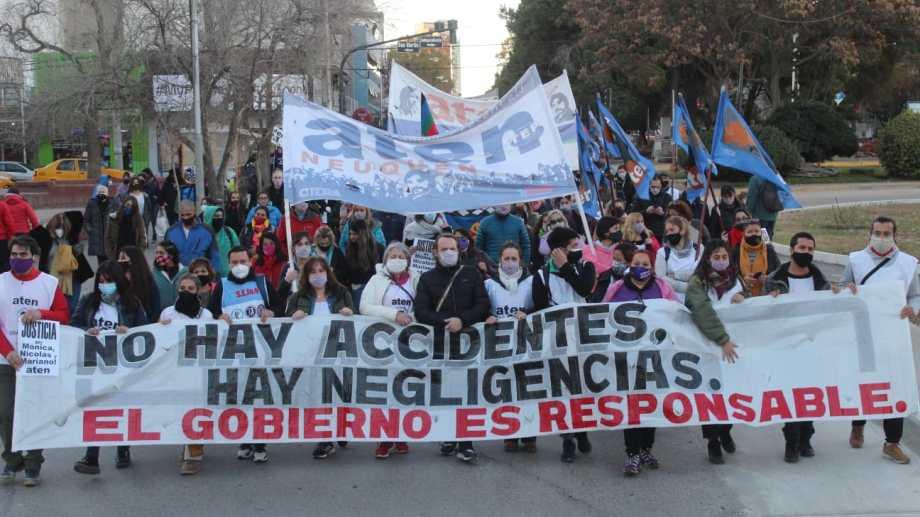 ATEN convocó a dos paros en Neuquén por la explosión en Aguada San Roque y hoy cumple con el segundo.