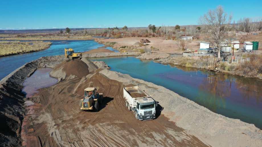 En Rincón buscan obtener más agua para potabilizar del río Colorado. (Gentileza).-