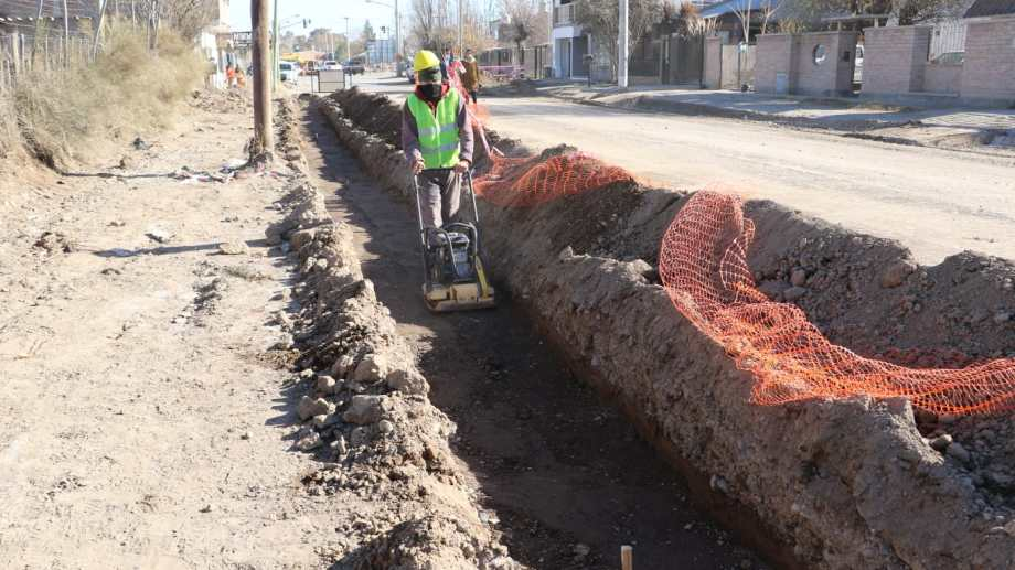 Comenzaron las obras sobre la calle Zeballos. Foto: Prensa Municipal