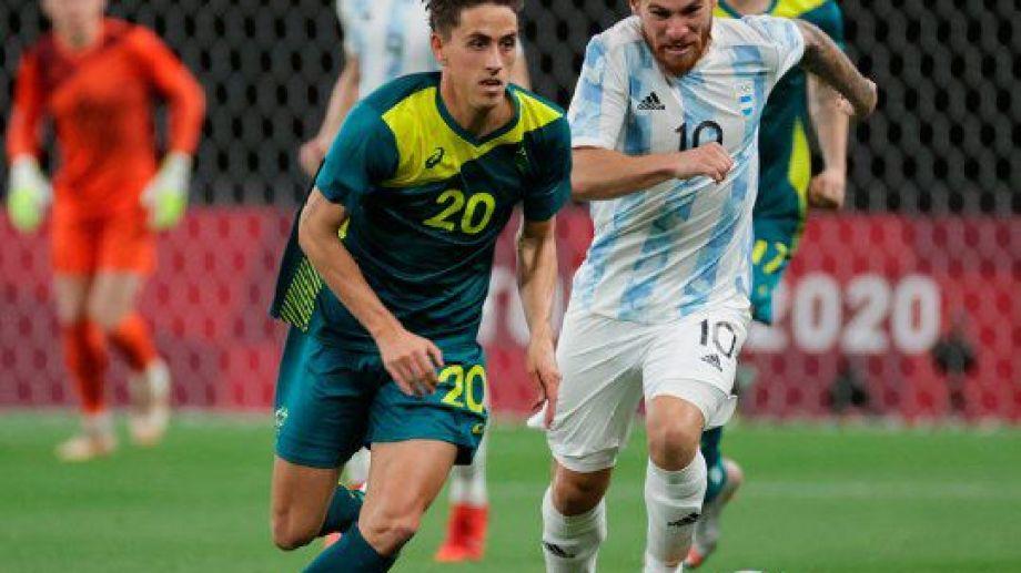 Argentina perdió en el estreno con Australia, por 2 a 0, en los Juegos de Tokio. Gentileza.