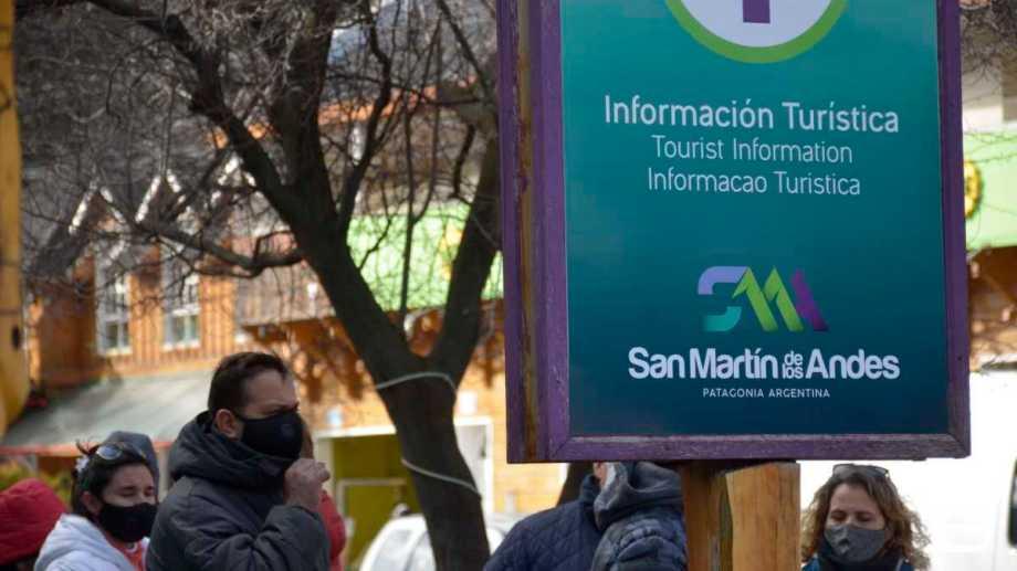 El centro de San Martín de los Andes. Foto: Patricio Rodríguez