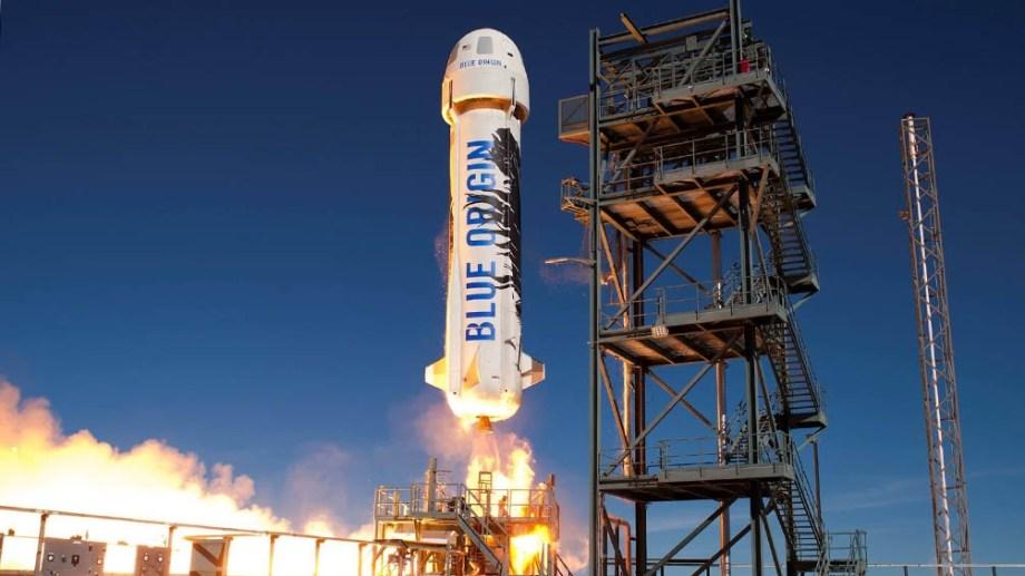 La nave de Jeff Bezos despegó desde una instalación remota en el desierto del oeste de Texas llamada Launch Site One.