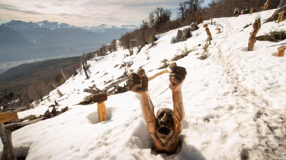 El bosque tallado cubierto de nieve es otras de las grandes atracciones. Foto: gentileza