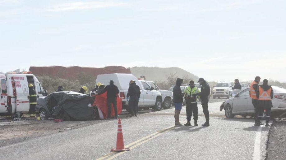 Tres personas murieron en un choque en la Ruta 151. (Florencia Salto)