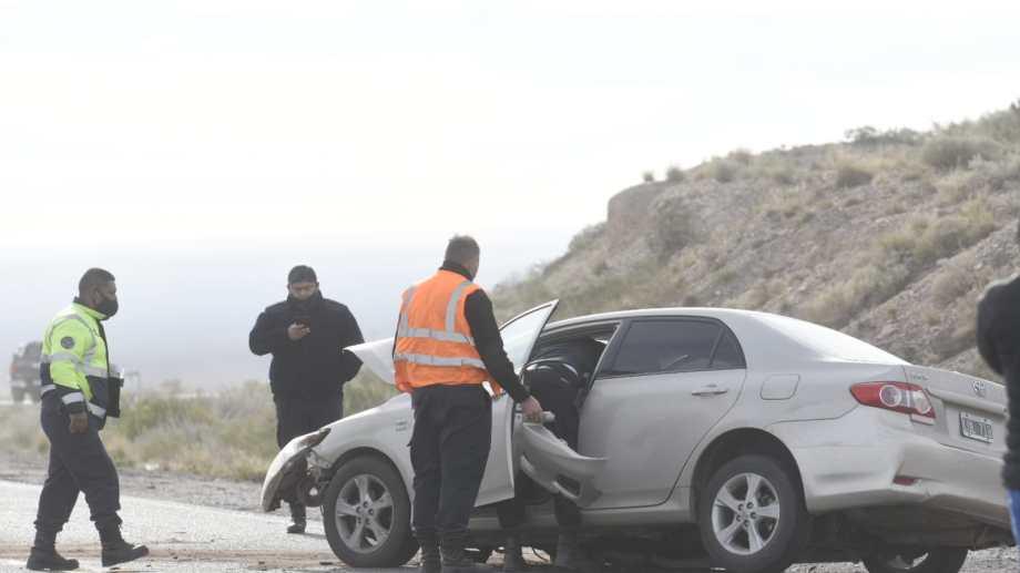 El accidente ocurrió en la zona conocida como La Escondida. (Florencia Salto)