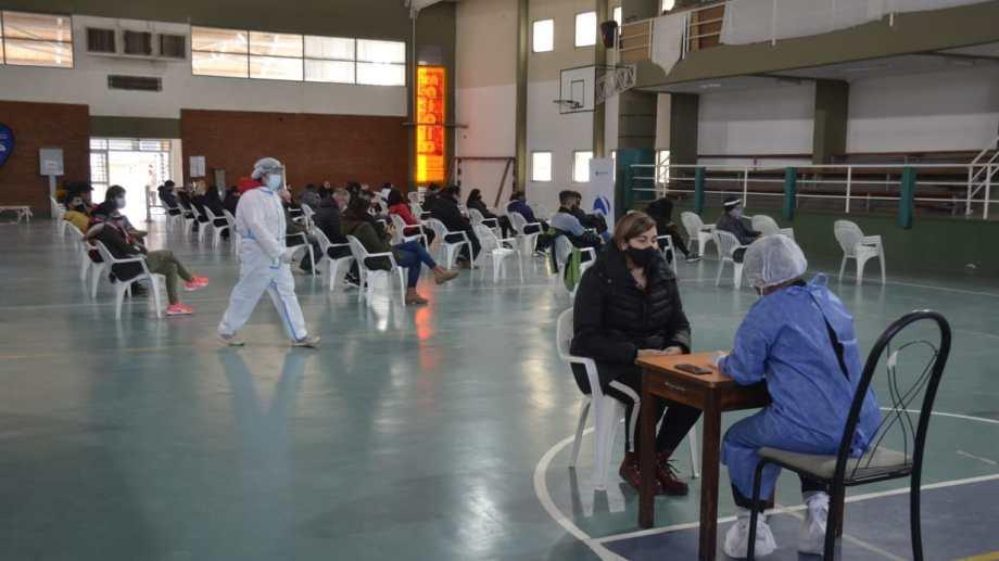 El plan DetectAr en el Colegio San martín de Neuquén. Foto: Yamil Regules