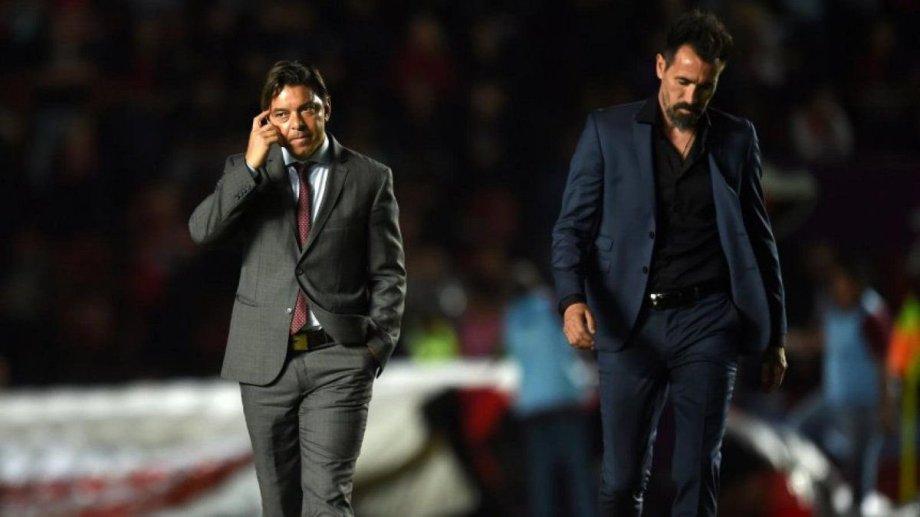 Marcelo Gallardo, Eduardo Domínguez y otra batalla táctica entre ambos.