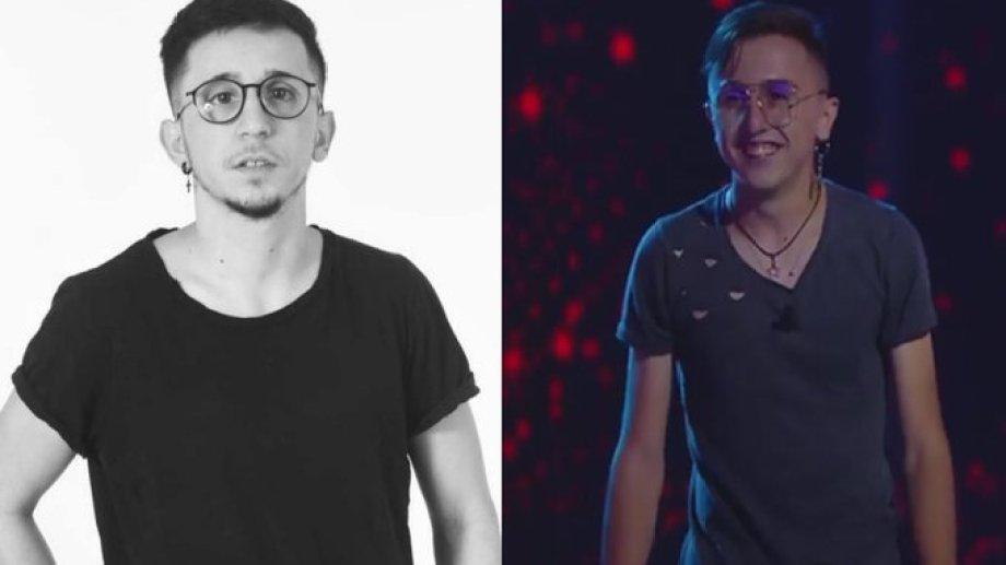 """Rodrigo Noya y el participante de La Voz que es """"igualito"""" a él."""