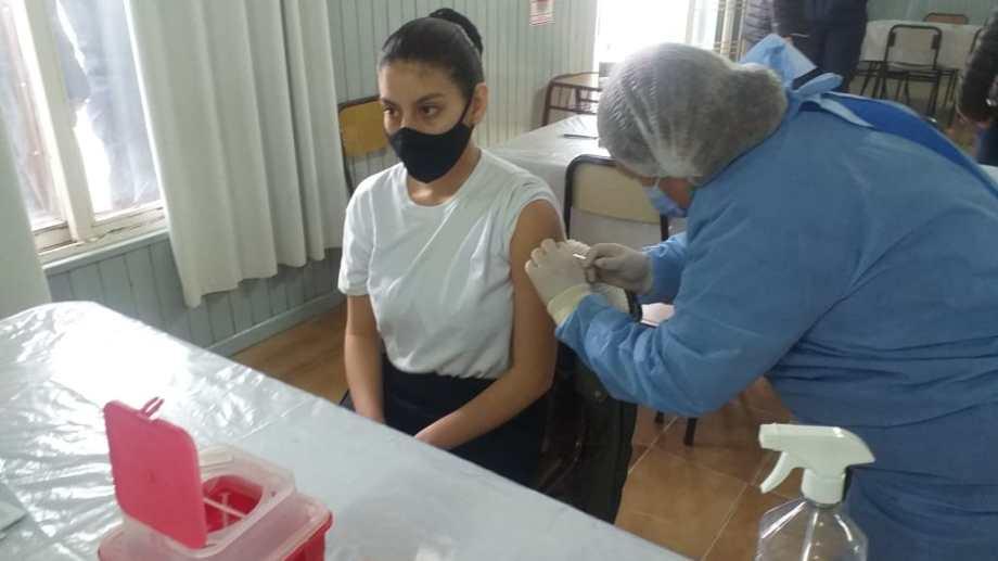 Previo al inicio del curso los aspirantes recibieron la vacuna contra el Covid 19. Foto: gentileza.