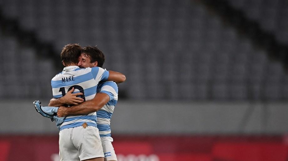 Los Pumas llegan a semifinales con una enorme victoria sobre Sudáfrica. Foto Télam/AFP