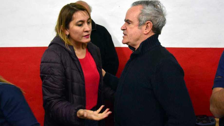 Matzen y De Rege ultimaban anoche un acuerdo de integración en una lista. Foto: Marcelo Ochoa.