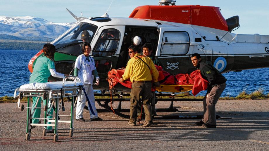Helicópteros del Ejército o del Servicio de Manejo del Fuego se usan -por lo general- en evacuaciones de personas. Foto: archivo