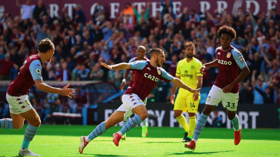 Buendia metió su primer gol en Aston Villa.