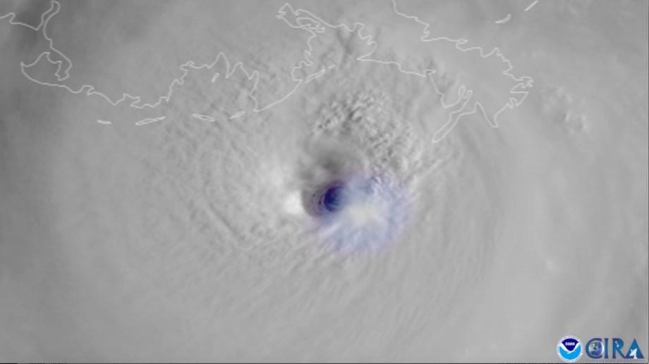 Una imagen satelital muestra la dimensión del huracán Ida.