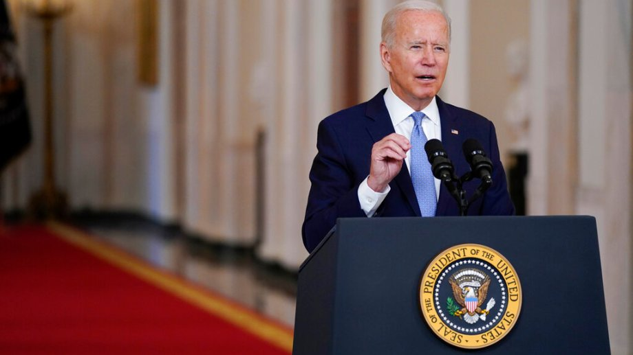 Biden habló hoy ante la prensa sobre la retirada de Estados Unidos de Afganistán. (Foto: AP)