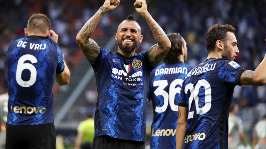 Vidal metió un gol y dio una asistencia en la goleada de Inter.