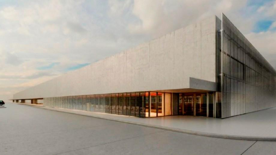 Un render del proyecto arquitectónico muestra cómo quedará la fachada del hospital Norpatagónico de Neuquén.