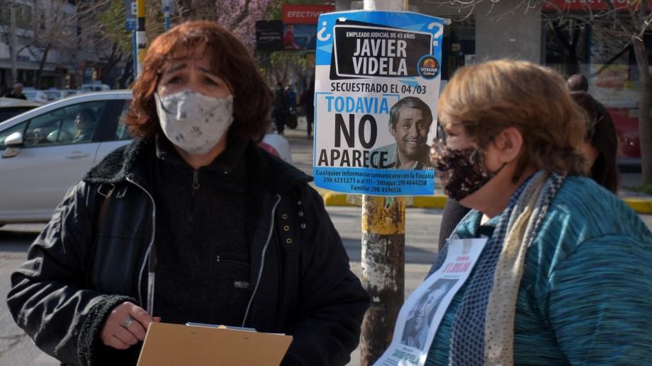Familiares de Javier Videla reclaman la continuidad de la búsqueda. Fotos: Emiliana Cantera