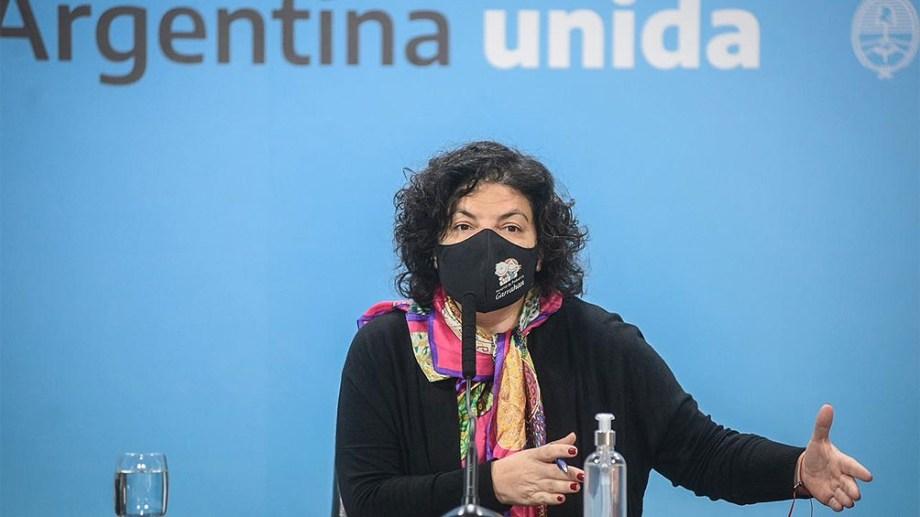 Carla Vizzotti, titular de la cartera sanitaria de la Nación.