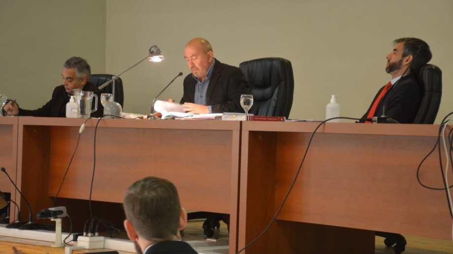 """Tribunal Oral Federal de Neuquén, juicio """"La Escuelita"""" (foto Yamil Regules)"""