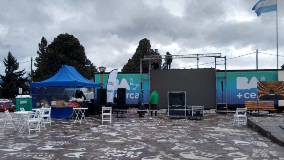 El trailer de la Ciudad Autónoma de Buenos Aires ya está instalado en el Centro Cívico de Bariloche.