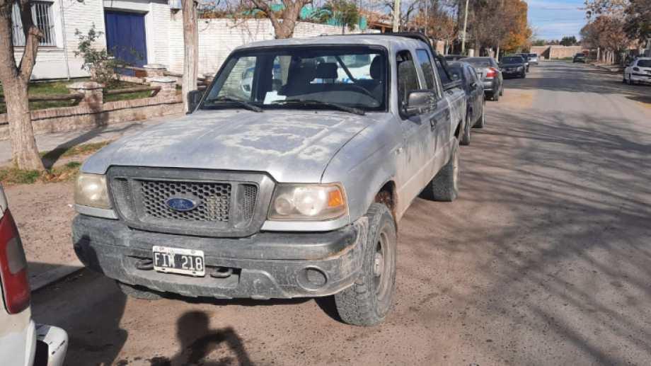 El rodado Ford Ranger fue reportado como robado en Neuquén hace dos meses. (foto: gentileza)