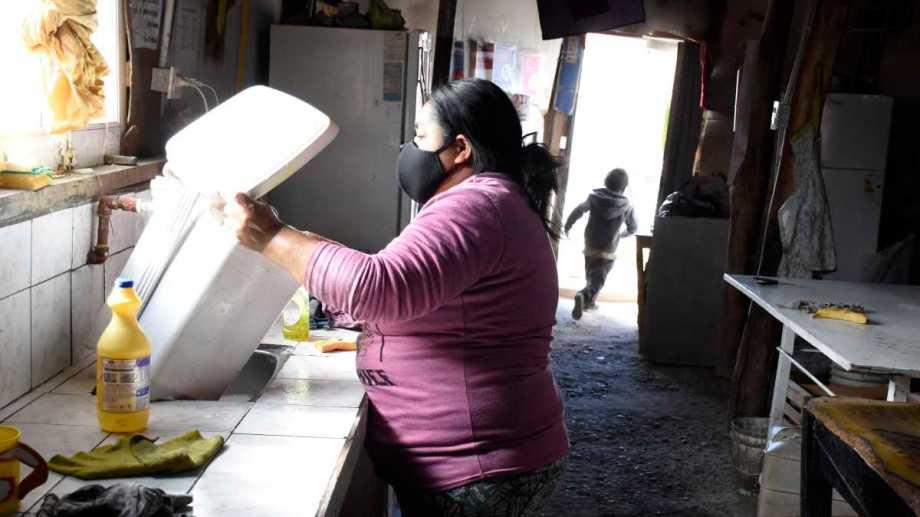 El 42% de las encuestadas contestó que era jefa de hogar. Foto Florencia Salto.