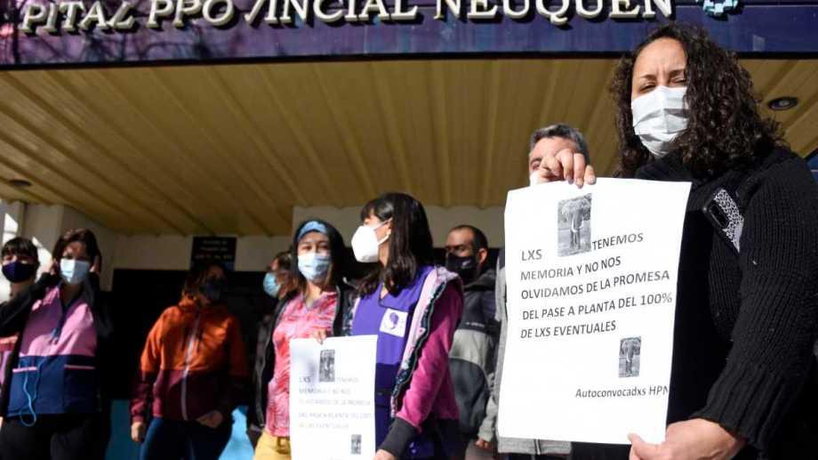 Autoconvocados de Salud del Castro Rendón denunciaron que el acuerdo no se efectivizaba. Foto: Florencia Salto