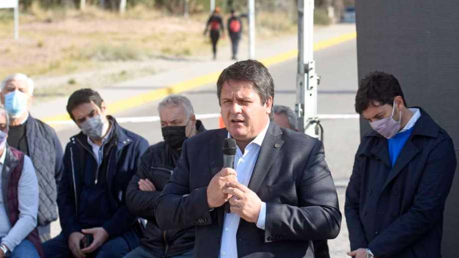 El intendente Mariano Gaido participó de una conferencia de prensa junto a todo su gabinete. Foto: Florencia Salto.