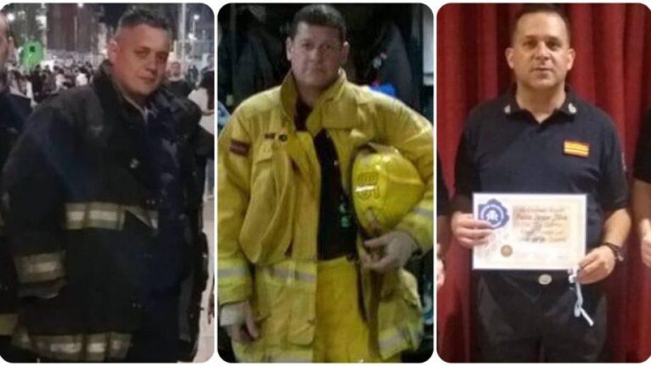 Cristian Ragazzoni, Gabriel Fedeli y Pablo Silva, los bomberos fallecidos.